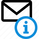 communication, email, envelope, info, information, mail icon