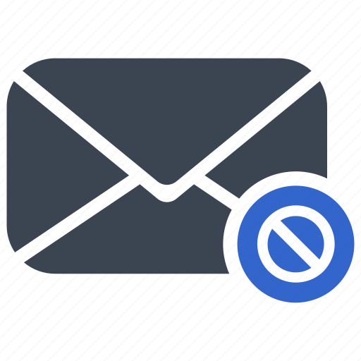Block, cancel, email, mail icon - Download on Iconfinder
