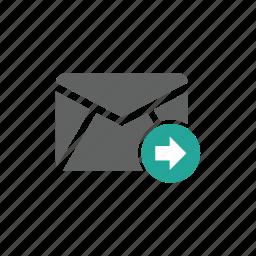 arrow, email, envelope, mail, send, sending, sent icon