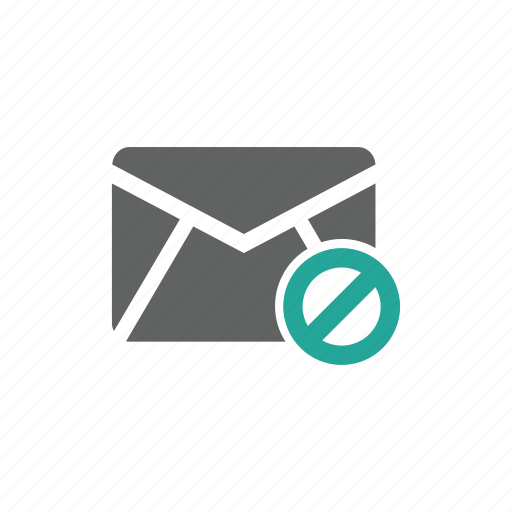 email, envelope, error, mail, prohibit, warning icon