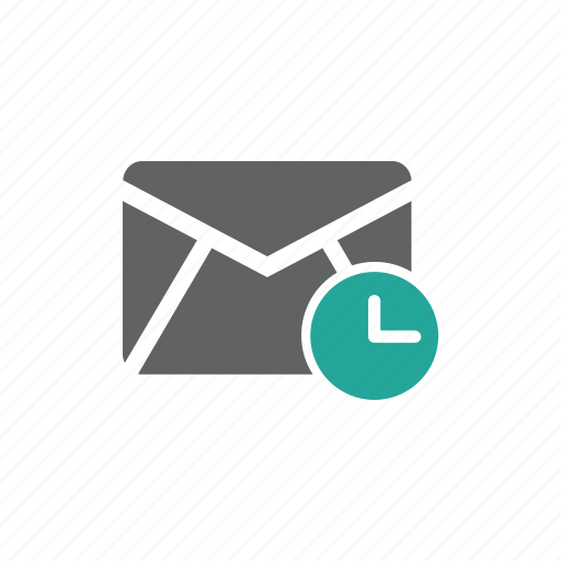 email, envelope, guardar, later, mail, save, time icon