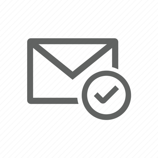 check, check mark, correct, email, mail icon