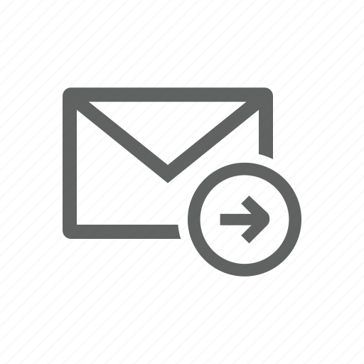 arrow, email, forward, mail, right, send icon