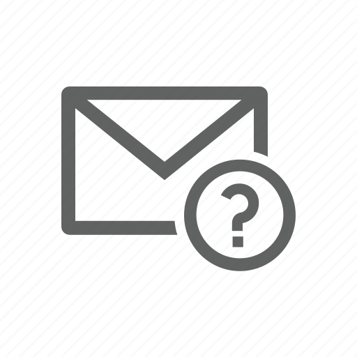 email, help, mail, question, question mark icon