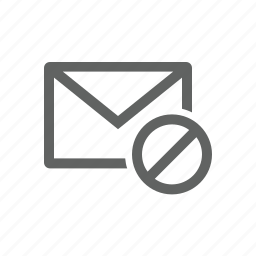 block, email, error, mail, warning icon