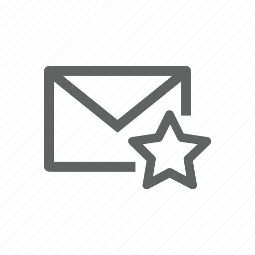 email, favorite, mail, star icon