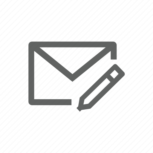 edit, email, mail, pen, pencil icon