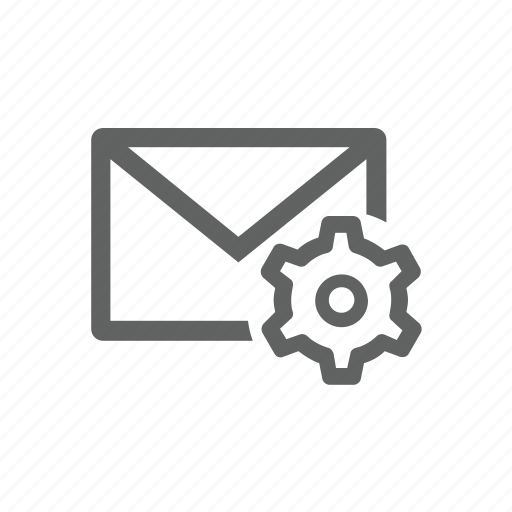 email, gear, mail, options, setting icon