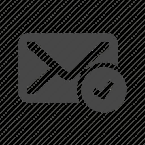 check, email, mark, ok icon