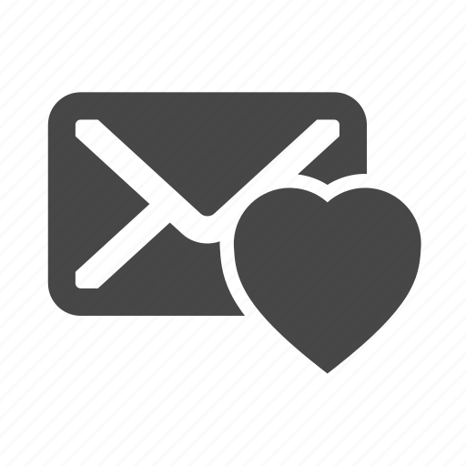 email, heart, like, love, message icon