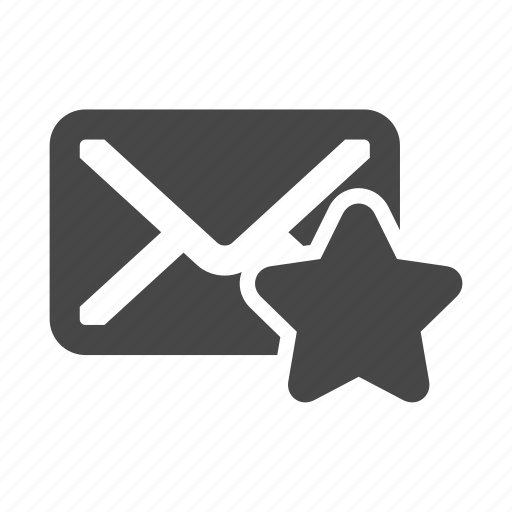 email, favourite, mail, star icon