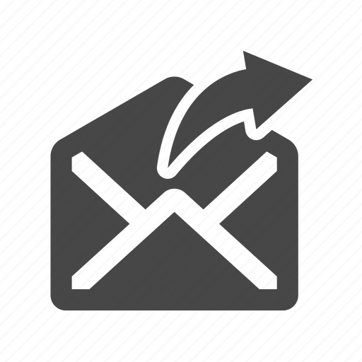 arrow, email, mail, reply icon