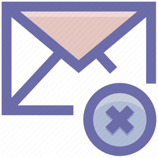 Delete, email, envelope, mail, message, remove icon - Download on Iconfinder
