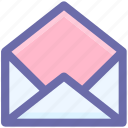 check, email, envelope, mail, message, open letter, read icon