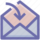 email, envelop, envelope, letter, mail, message, received icon