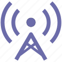 antenna, beacon, signal, signal tower, tower, wifi signal, wifi signal antenna icon