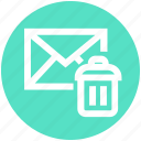 .svg, dustbin, email, envelope, letter, message, remove icon