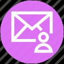 .svg, envelope, letter, mail, man, message, user icon