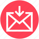 2, arrow, email, envelope, inbox, letter, message icon