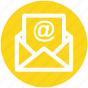 .svg, at, email, letter, message, sheet icon