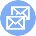 .svg, double, email, envelopes, letter, mail, messages icon