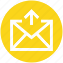 3, arrow, email, envelope, letter, mail, outbox icon