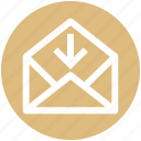 .svg, arrow, down, email, envelope, open, outbox icon
