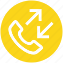 .svg, arrows, calls, incoming, outgoing, phone, telephone