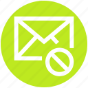 .svg, block, disable, email, envelope, letter, mail icon