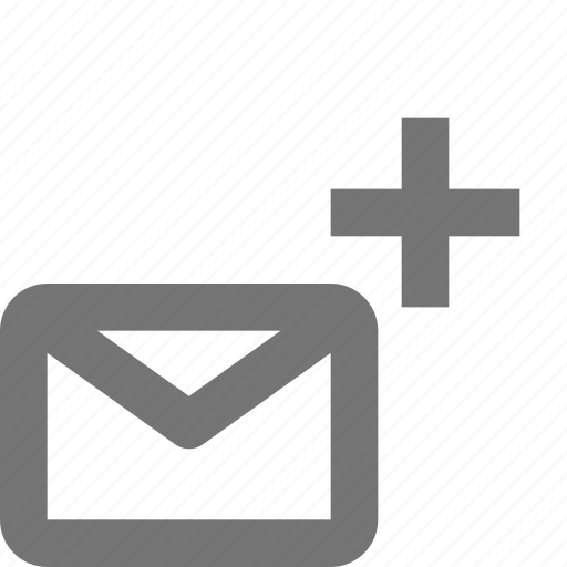 add, communication, email, envelope, letter, message, new, plus icon