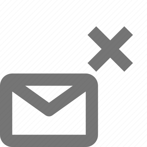 close, delete, email, envelope, message icon