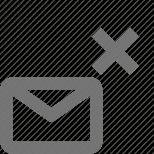close, delete, email, envelope, junk, letter, message, remove icon