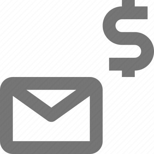 dollar, email, envelope, message, money icon