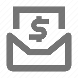 communication, currency, dollar, email, envelope, letter, message, money icon