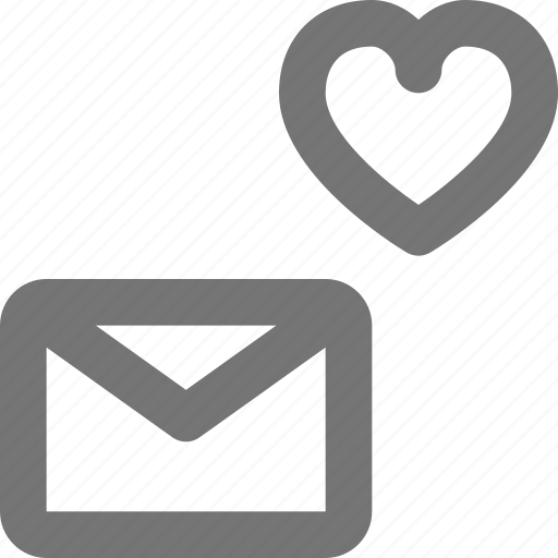 email, envelope, favorite, heart, like, message icon