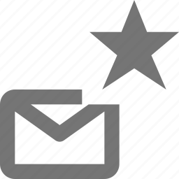 email, envelope, favorite, message, star icon