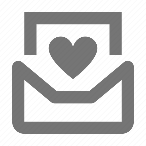 communication, email, envelope, favorite, heart, letter, like, message icon