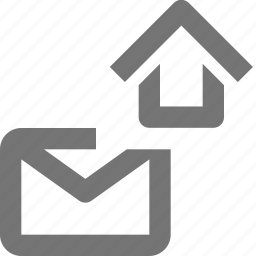 email, envelope, home, house, message icon