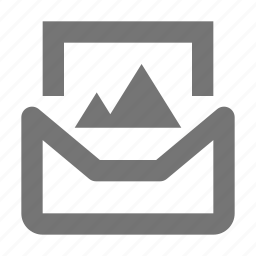 communication, email, envelope, image, letter, media, message, photo icon