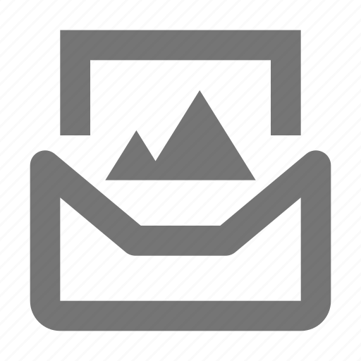 email, envelope, image, message, photo icon