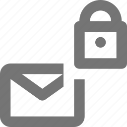 email, envelope, lock, message, security icon