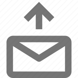 arrow, email, envelope, message, outbox, send, upload icon