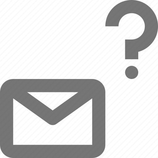 email, envelope, help, message, question icon