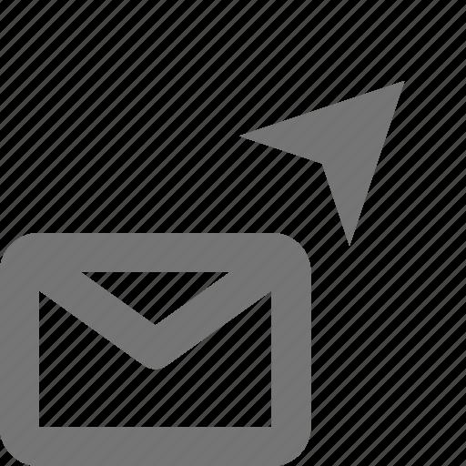 Email, send, envelope, message, letter, location, navigation icon - Download on Iconfinder