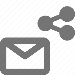 email, envelope, message, share icon