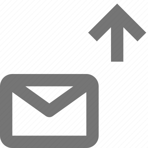 arrow, email, envelope, message, up, upload icon