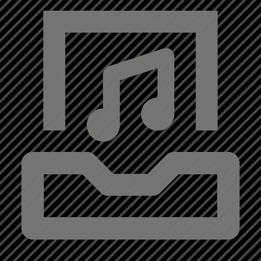audio, inbox, music icon