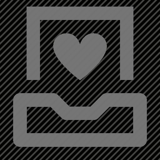 heart, inbox, like icon