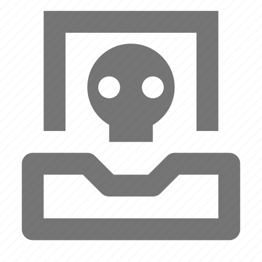 inbox, skull icon