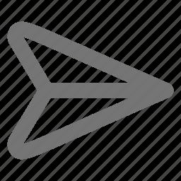 airplane, paperplane, plane, send icon